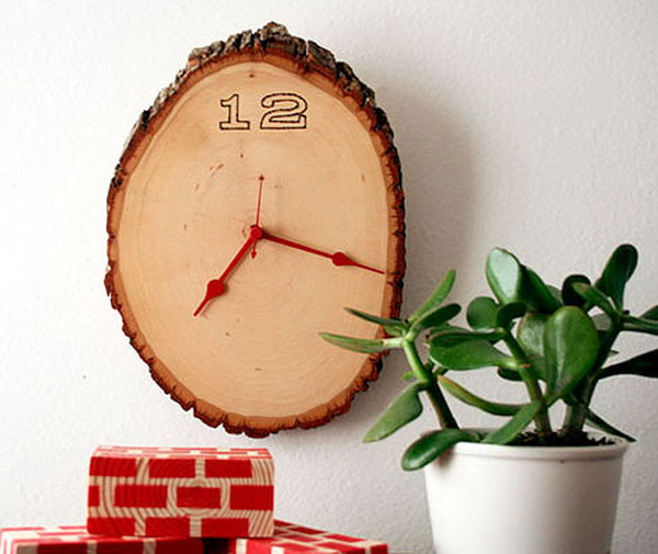 24 Log Slice Wall Clock
