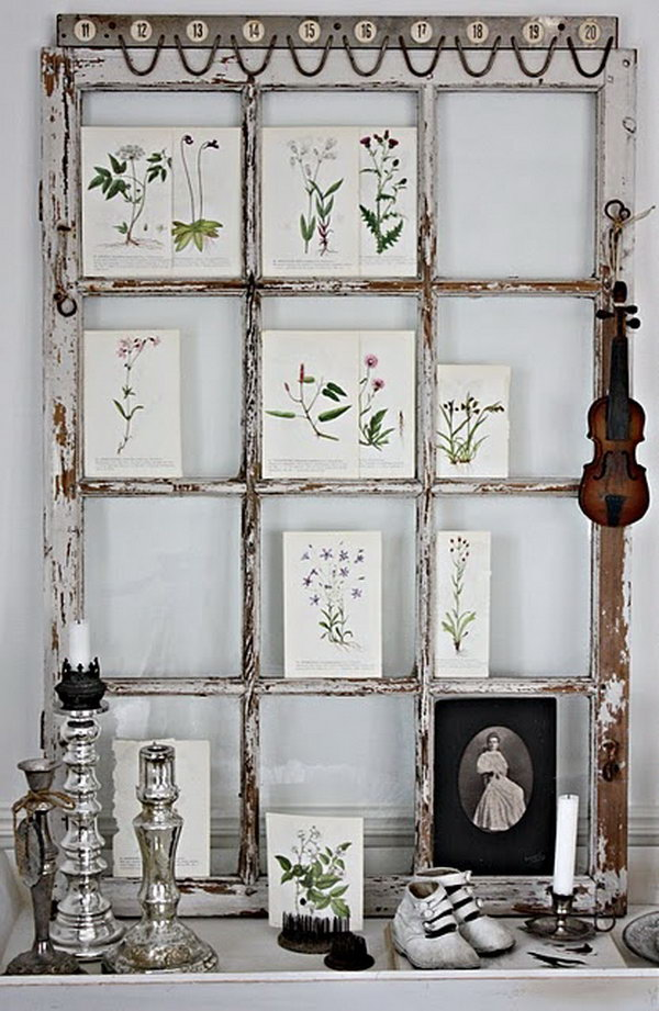 24 Old Window Picture Frame