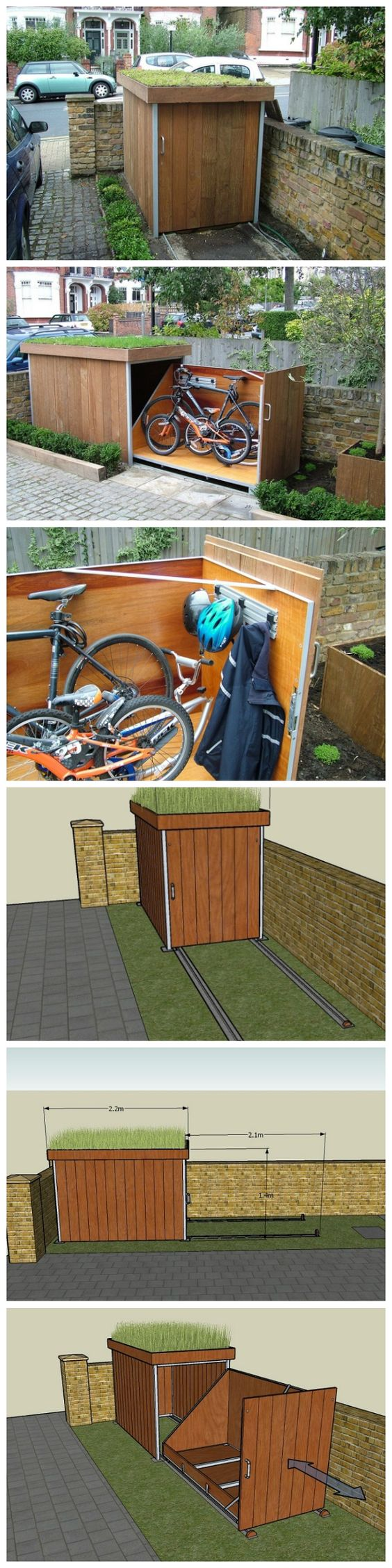 24 Super Simple Outdoor Bike Storage Solution