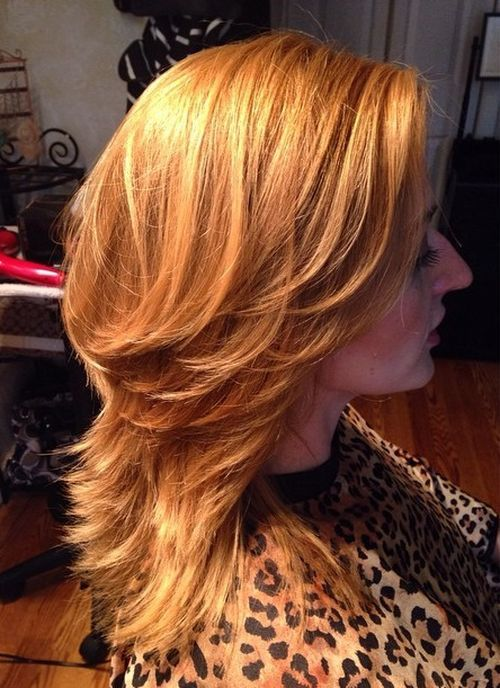 24 honeyblonde layered hairstyle