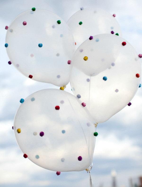 25 DIY Pom-Pom Balloons