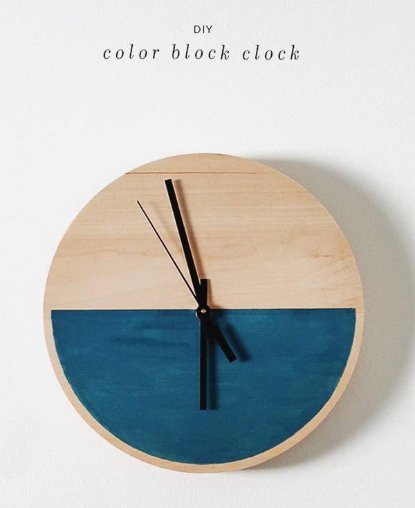25 DIY Wooden Clock