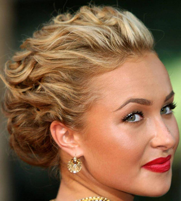 25 curly updo