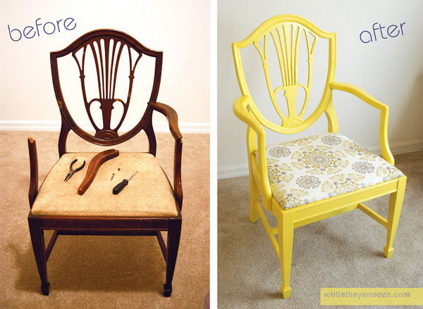 25 shabby chic Side Chair Makeover