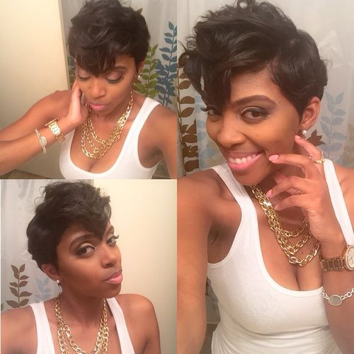 26 textured pixie african american short hairstyle