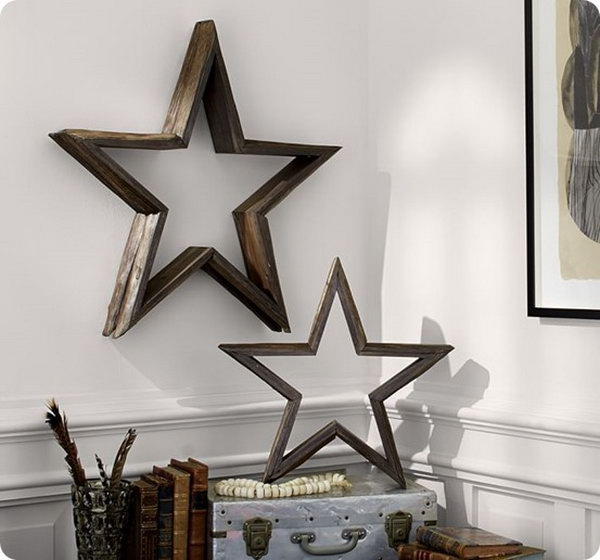 27 DIY Wood Wall Stars