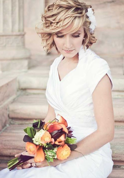 27 Perfect Short Haircut for Wedding Hairstyles 2014