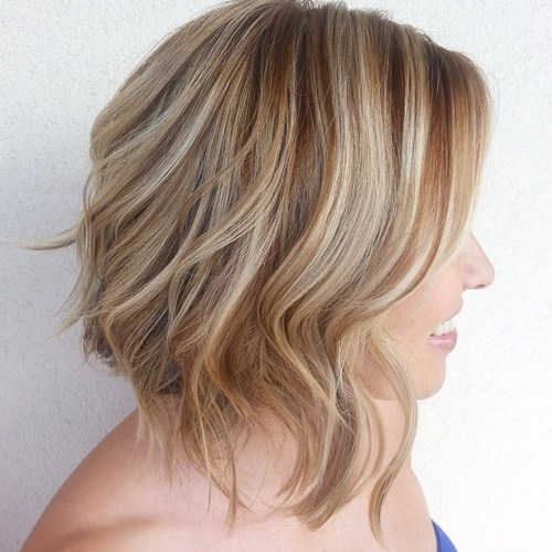 27 brown hair with caramel and blonde highlights
