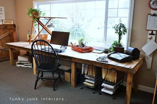 28 DIY Pallet Farm Table