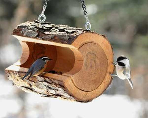 28 DIY Wood Bird Feeder
