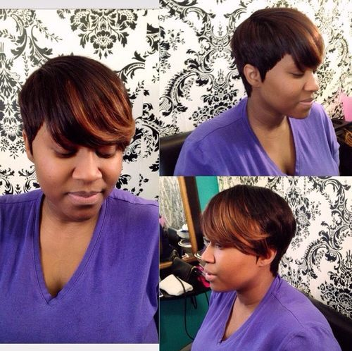 28 asymmetrical short cut for black women