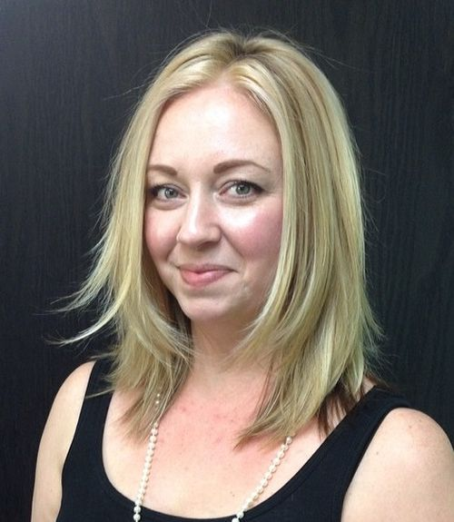 28 midlength blonde layered haircut
