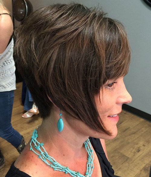 28 short layered bob with angled front pieces