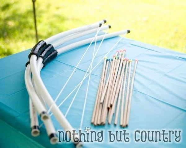 29  PVC Pipe Bow and Arrow for Your Kids