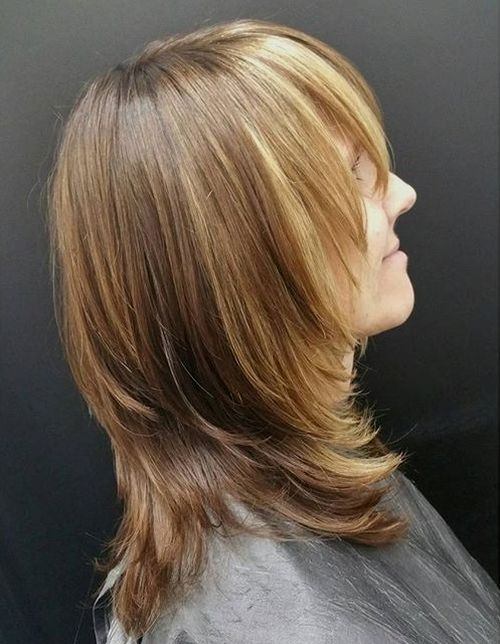 29 layered haircut with bangs