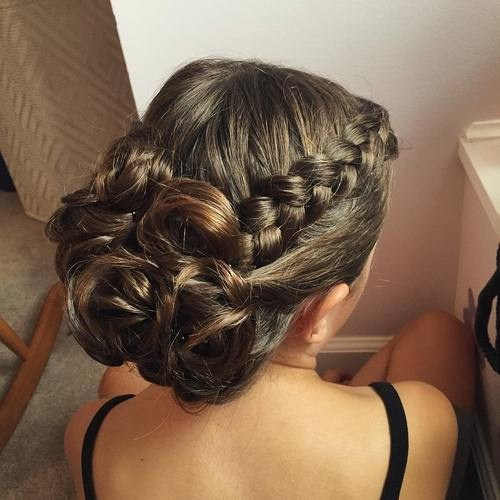 29 side braid prom hairstyle for long hair