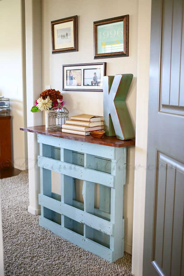 3 Beautiful Pallet Console Table for Not So Wide Entry
