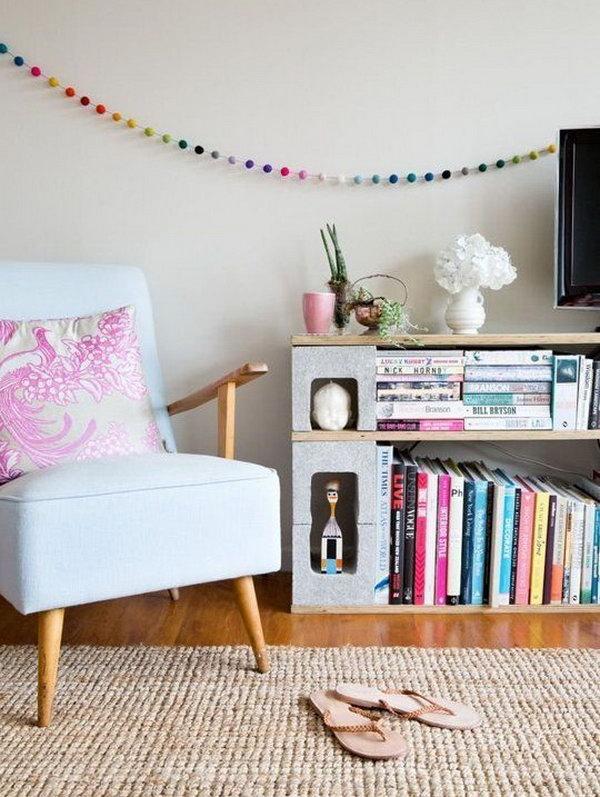 3 Cinder Block Bookshelf
