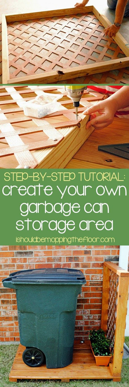 3 Create a Simple Garbage Can Storage Area