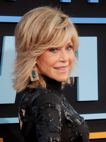 """HOLLYWOOD, CA - SEPTEMBER 15:  Actress Jane Fonda arrives at the Los Angeles premiere of """"This Is Where I Leave You"""" at TCL Chinese Theatre on September 15, 2014 in Hollywood, California.  (Photo by Gregg DeGuire/WireImage)"""