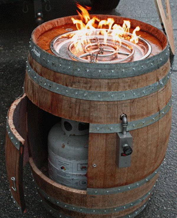 3 Wine Barrel Fire Pit