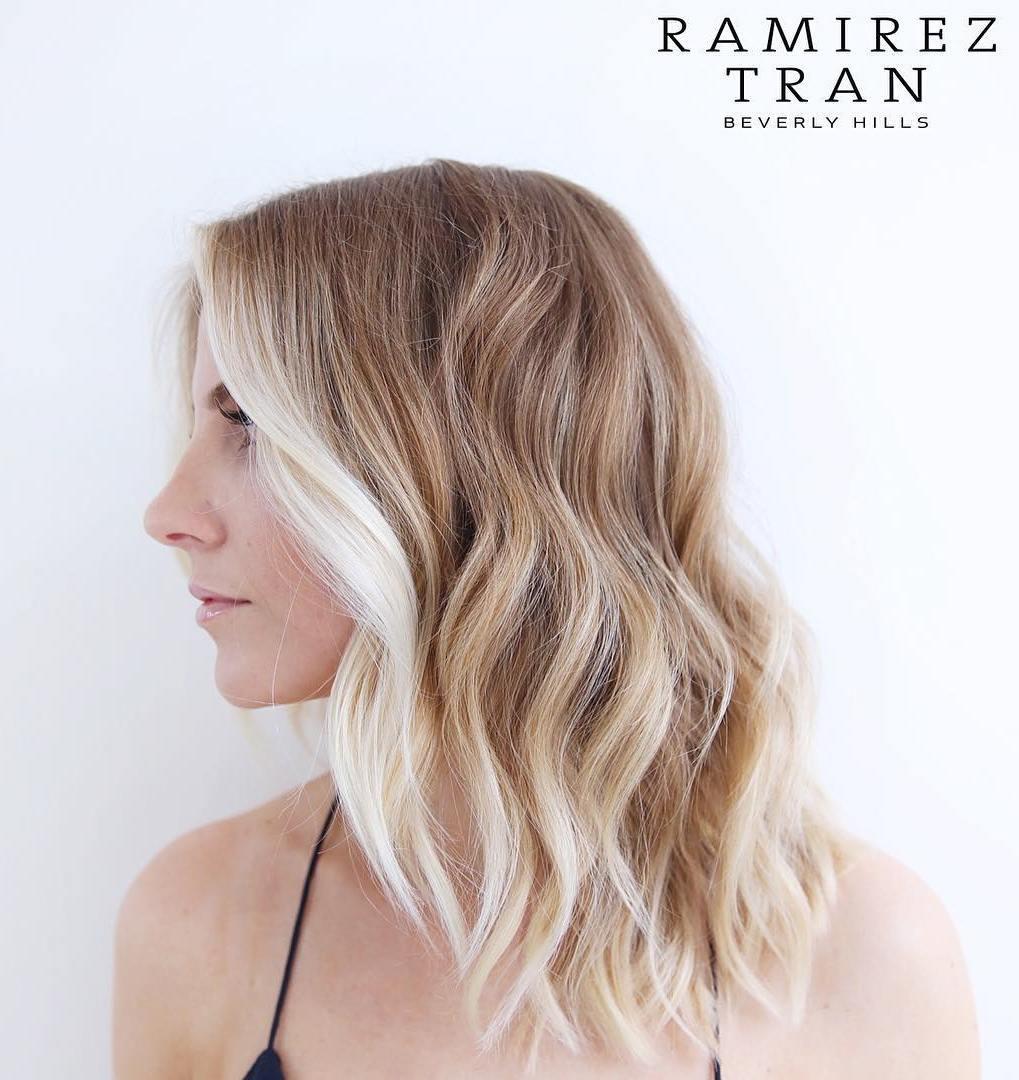 3 honey brown hair with blonde balayage