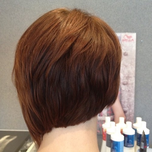 3 short asymmetrical layered haircut