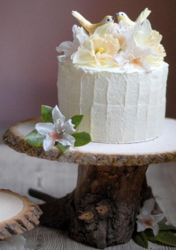30 Wood Wedding Cake Stand