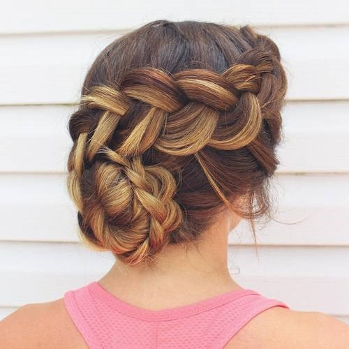 30 braided updo for prom