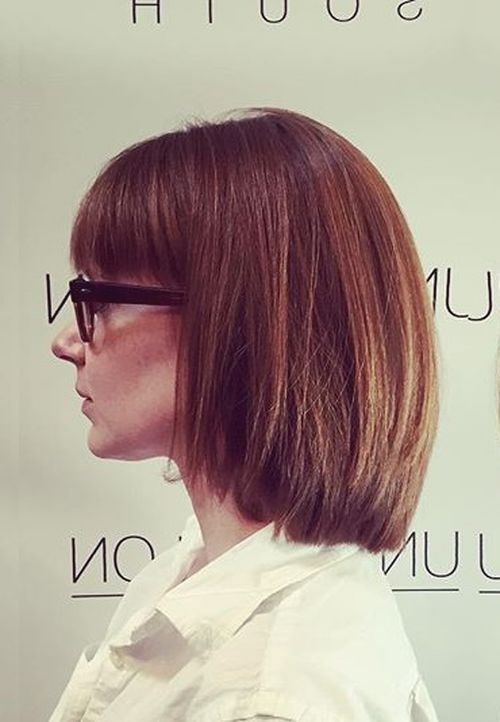 30 layered bob with bangs