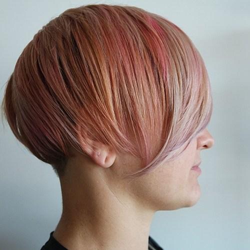 30 short pastel pink hairstyle