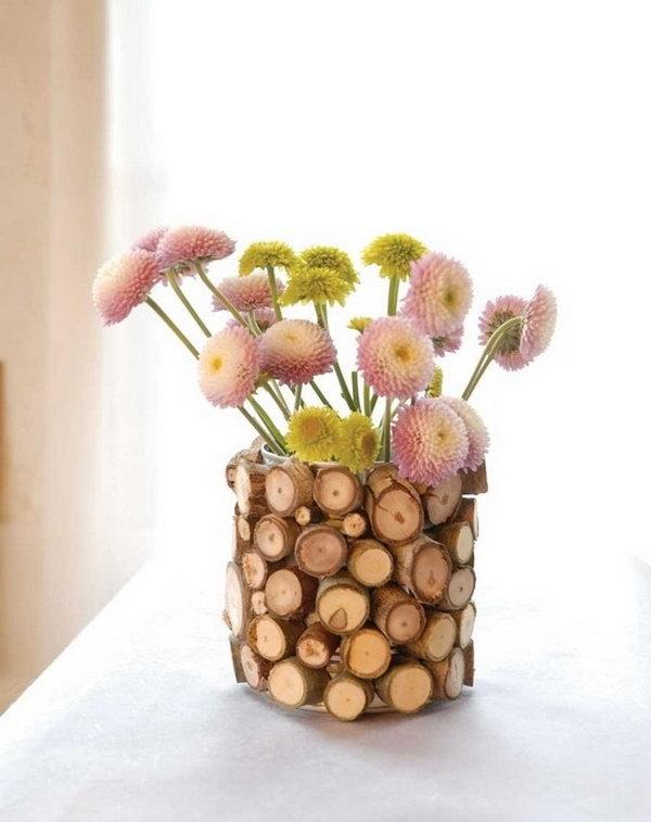 31 DIY Wood Flower Vase