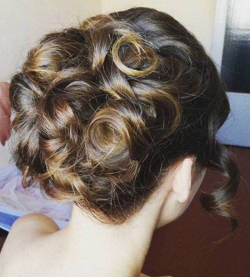 31 curled formal updo for long hair