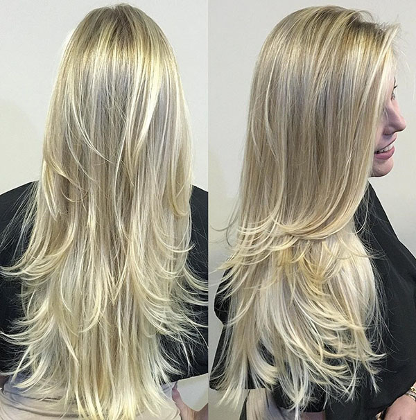 31 long layered blonde hairstyle