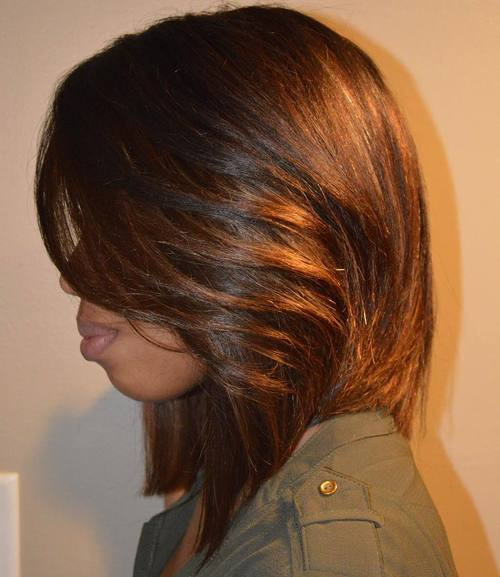 32 African American copper brown lob