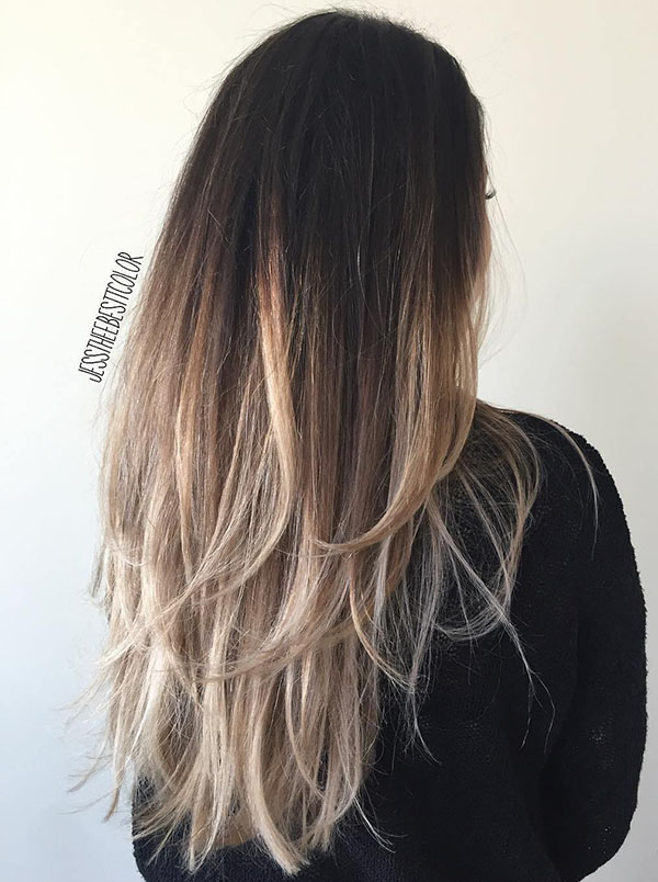 32 black to ash blonde ombre hair