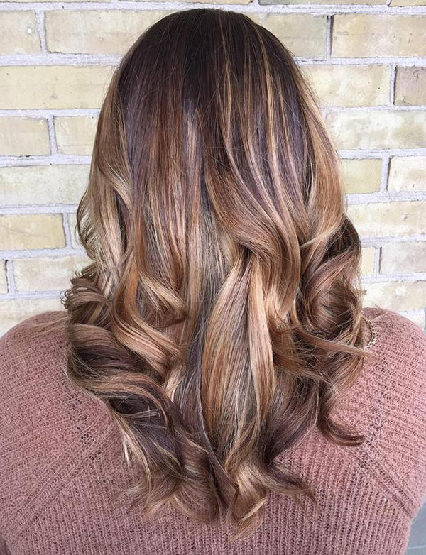 32 medium brown balayage hair