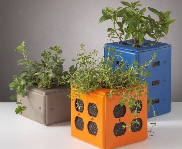 33 Desktop Planters Made from Old Switch Plate Covers