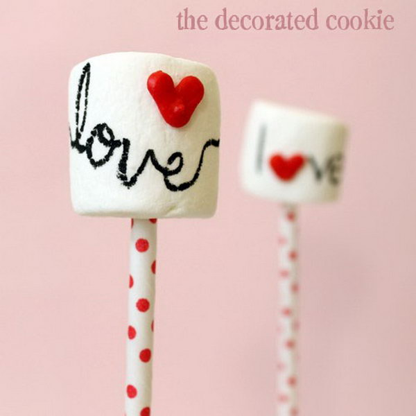 33 Marshmallow Pops With Heart Sprinkles
