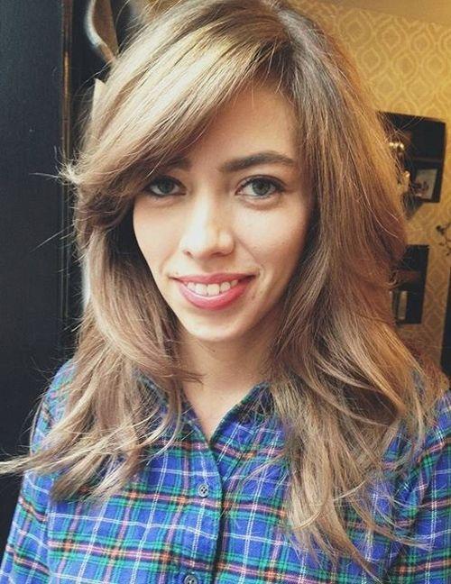33 long layered haircut with side bangs