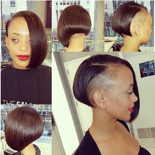 33 sleek asymmetrical bob with undershave
