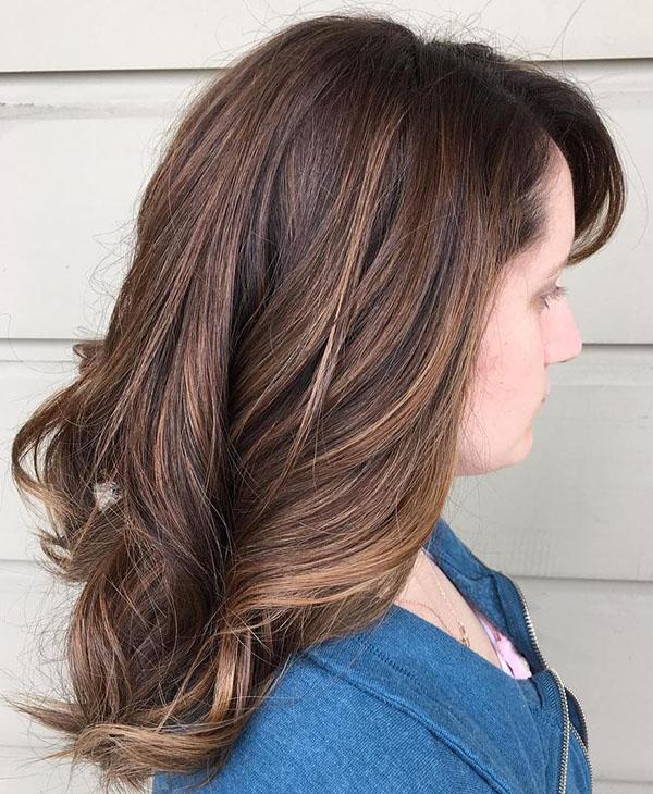 33 subtle balayage for brown hair