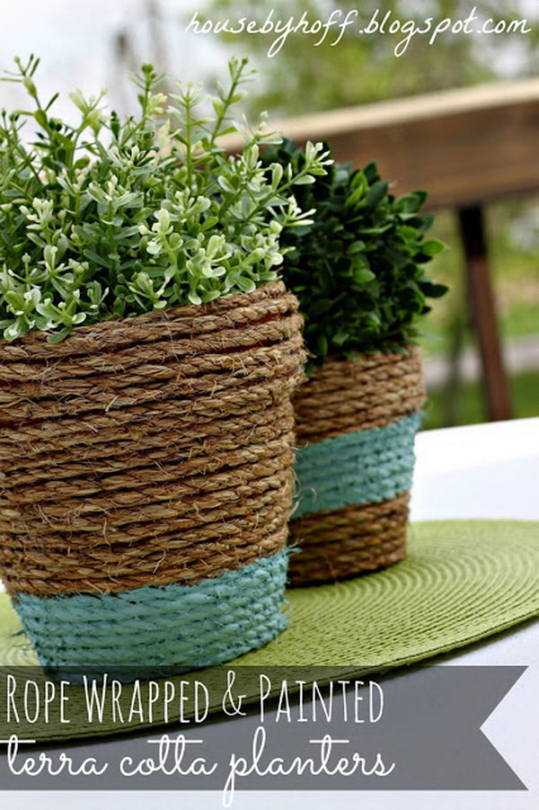 34 Rope-wrapped Planter