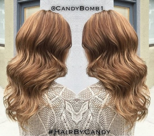 34 long light brown wavy hairstyle