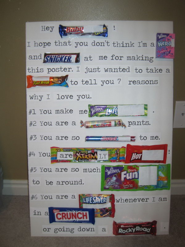 35 Valentines Candy Bar Poster for Him