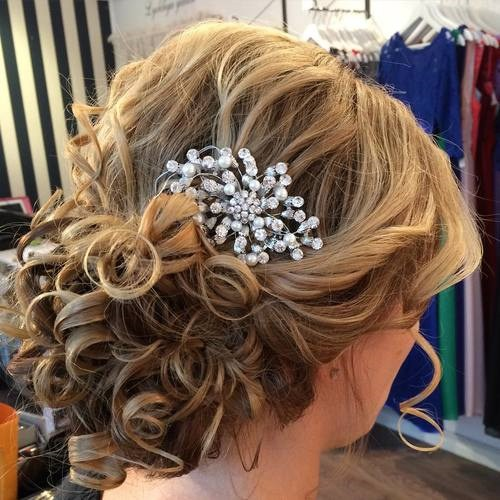 35 curly formal updo