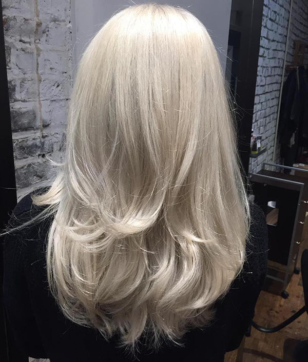 35 long white blonde layered hair