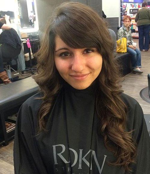 36 long layered haircut with bangs