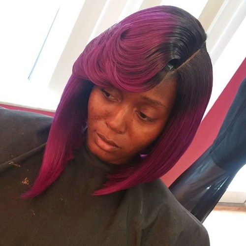 37 medium asymmetrical hairstyle for black women
