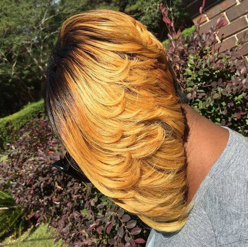 38 layered blonde bob for black women